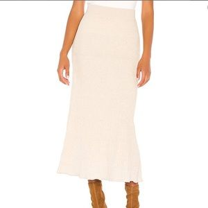 NWT Free People Shine Bright Knit Maxi Midi Skirt